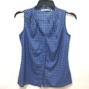 Violet & Claire Blue Sleeveless Shirt, S